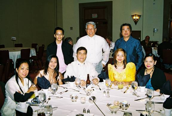 Members of the IAO Philippines Section relax at the IAO Annual Banquet Dinner