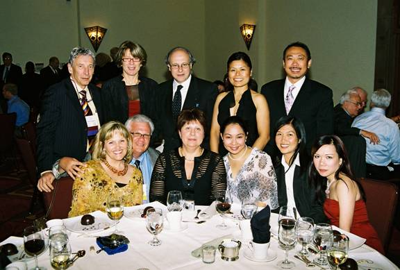 Various IAO Members relax at the Annual Banquet