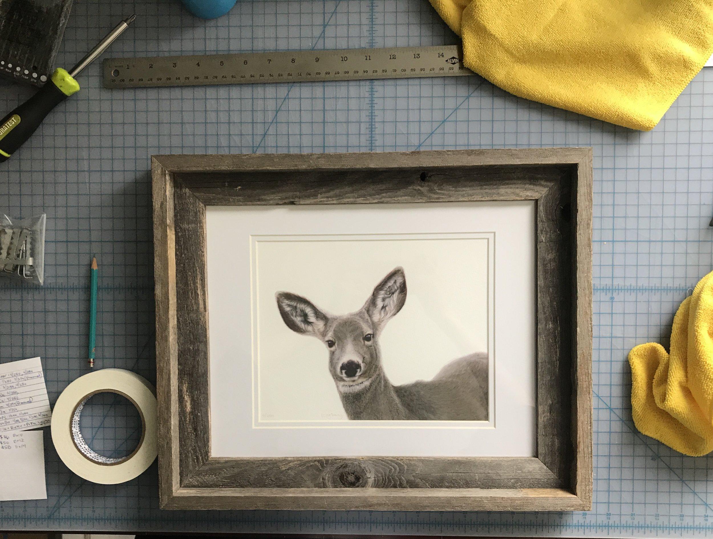 """Mindfulness"" framed limited edition print"