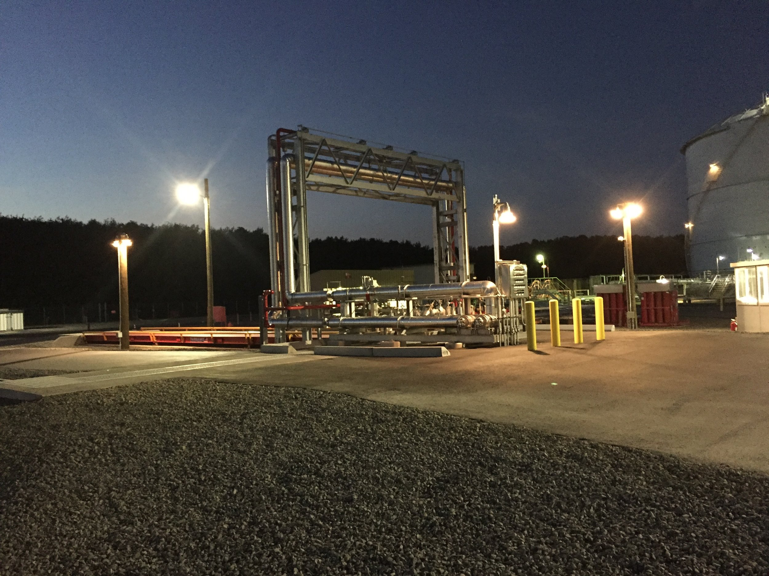 LNG Truck station at new jersey Natural Gas Storage Facility Howell, NJ    View More