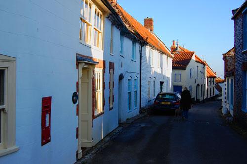 Pretty cottages on Blakeney high street
