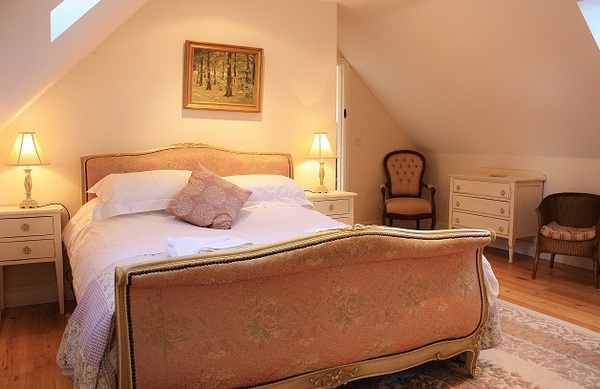 French bed in cottage Blakeney Norfolk