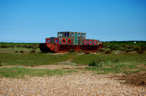 old House boat on marshes at blakeney