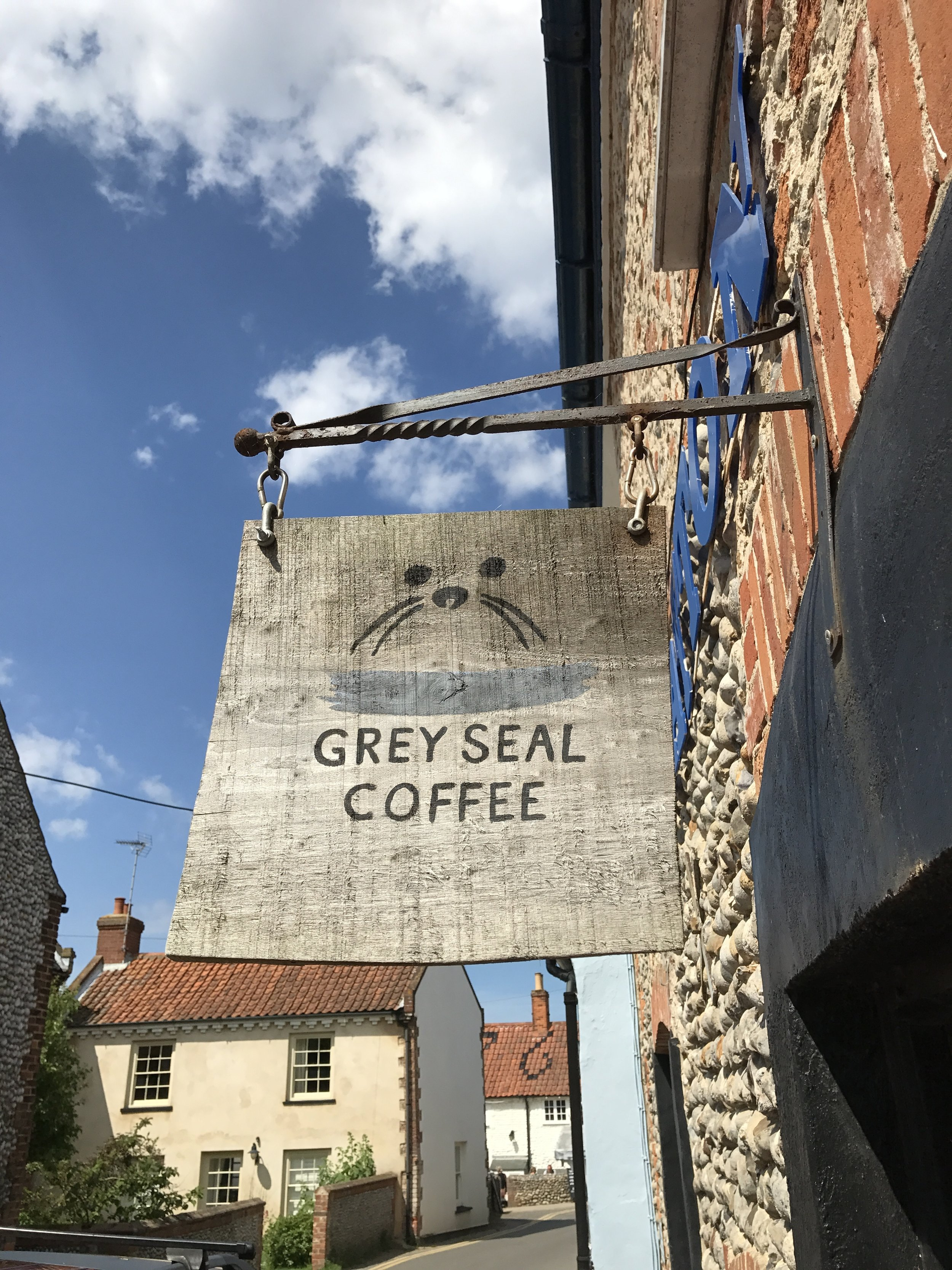 Grey Seal Coffee  - Lovely real coffee from a local North Norfolk company. Just off the Blakeney Quay near to the Spar. Great place to get your caffeine fix. Dog friendly. Nice selection of cakes.