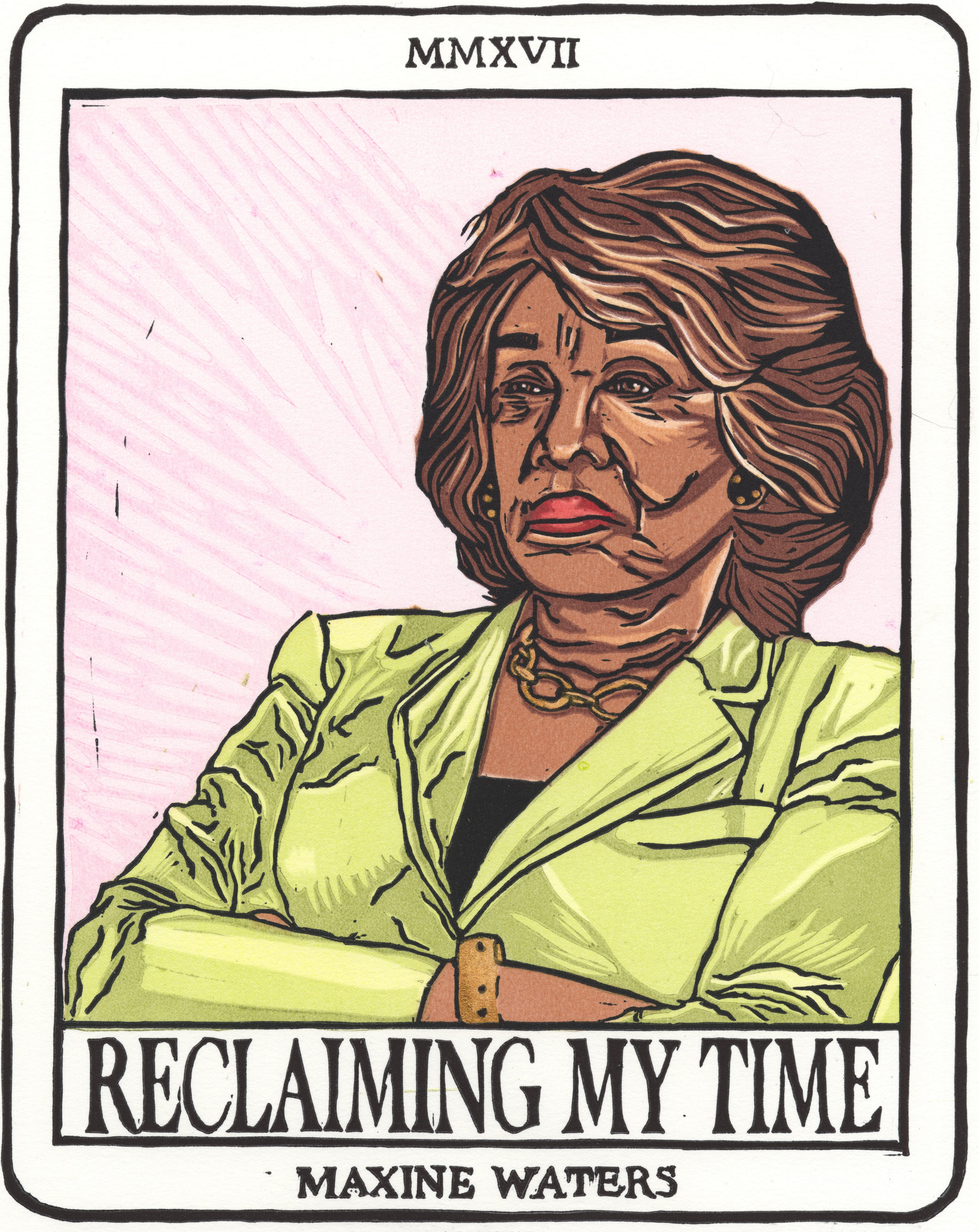 """RECLAIMING MY TIME , 2017  Rep. Maxine Waters(D-Calif.) upon being interrupted repeatedly by Treasury Secretary Steven Mnuchin at a House Financial Services Committee meeting in July 2017 became an overnight sensation for repeatedly announcing that she was """"Reclaiming my time""""."""