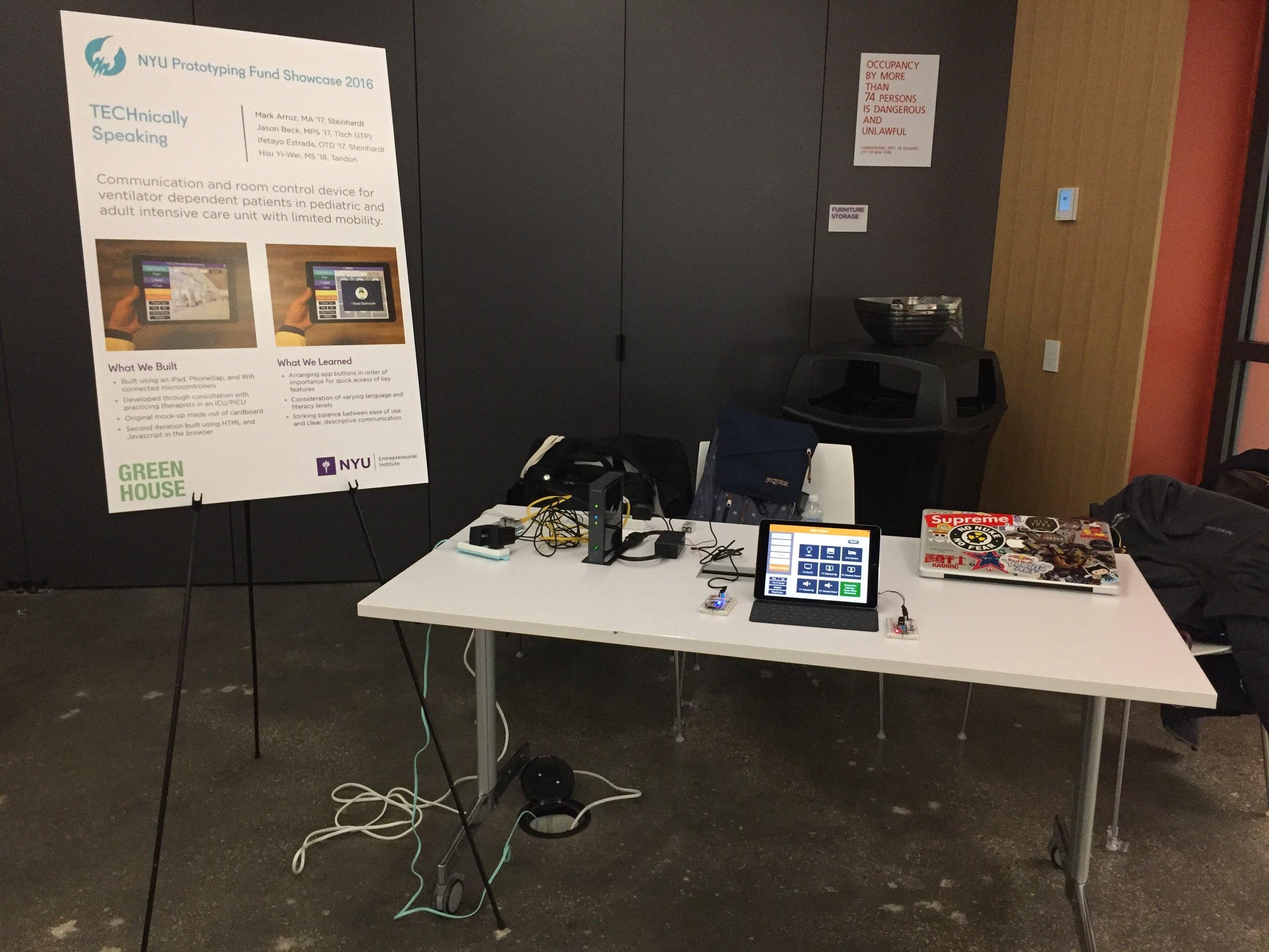 NYU Prototyping Fund Showcase 2016 @ NYU Tandon School of Engineering Maker Space