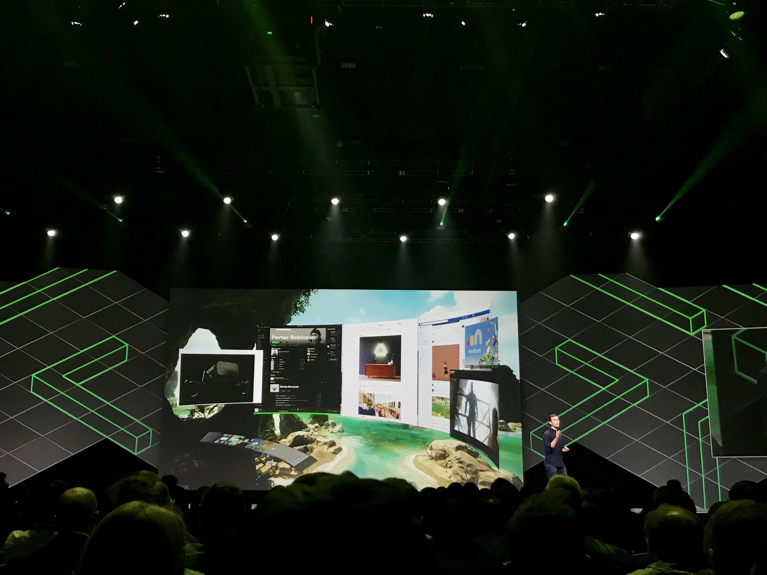 During the Keynote, Oculus introduced their new features --- Oculus Dash