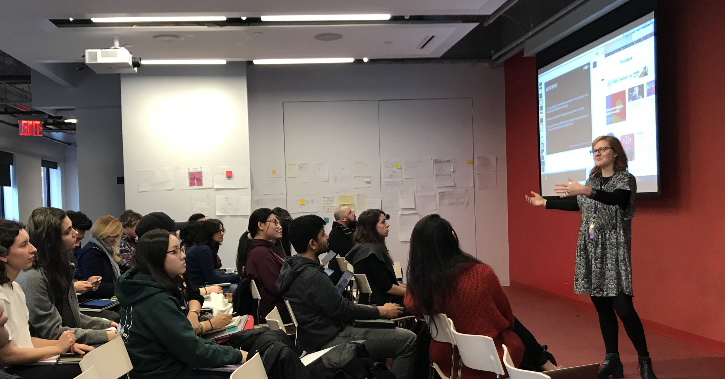 First day of the class: User Experience Design, Spring 2018, Integrated Digital Media, NYU. Professor Dana Karwas.