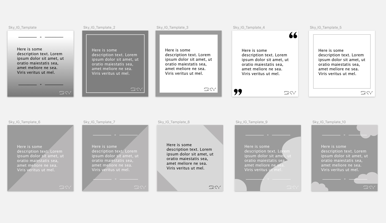 Instagram Post Template Design