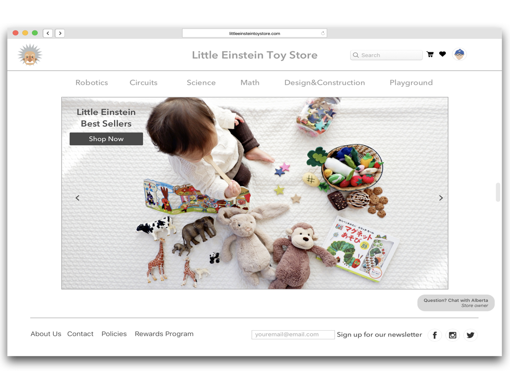 Little Einstein - E-commerce Web UX Design