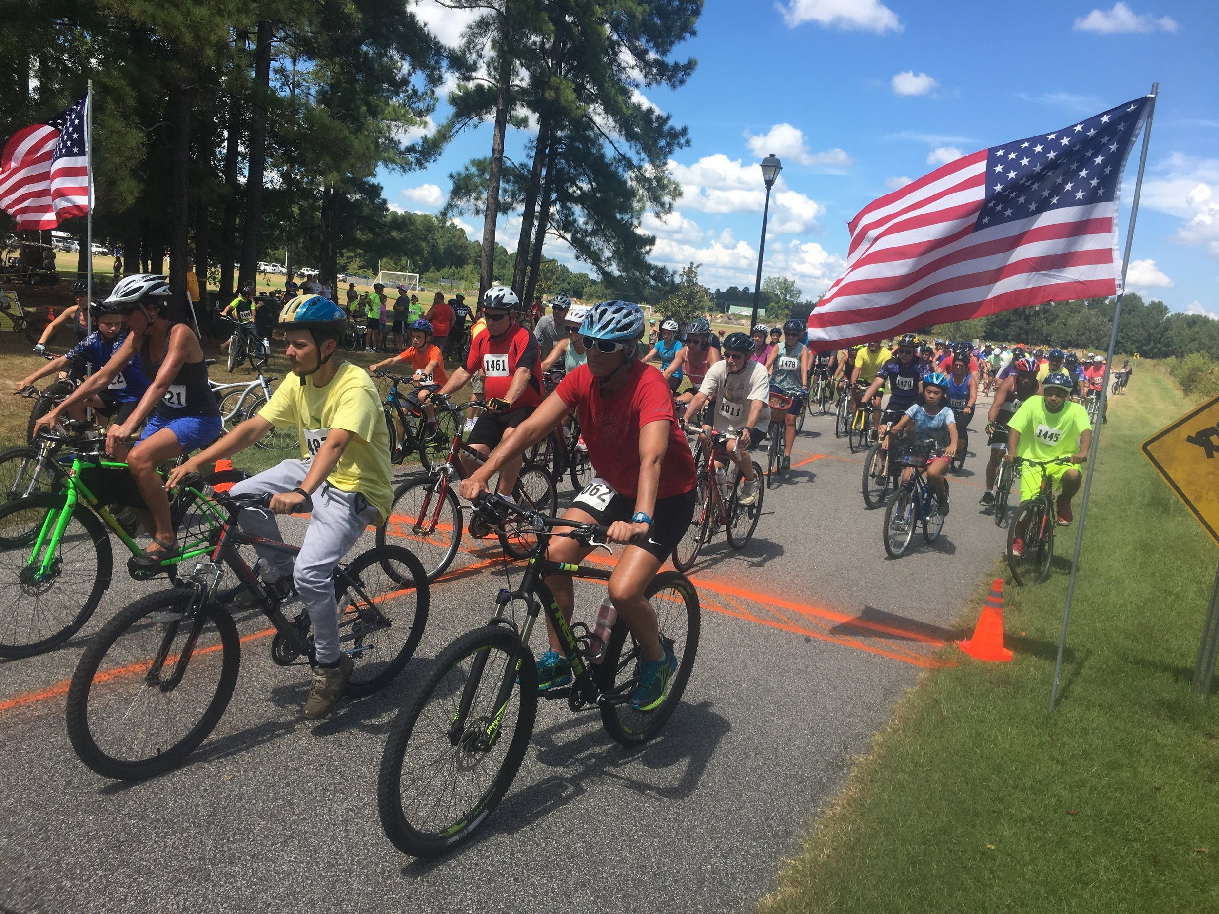 Bicycle events included the 16 mile personal endurance challenge around Lake Waccamaw and the 10K Family Bike.
