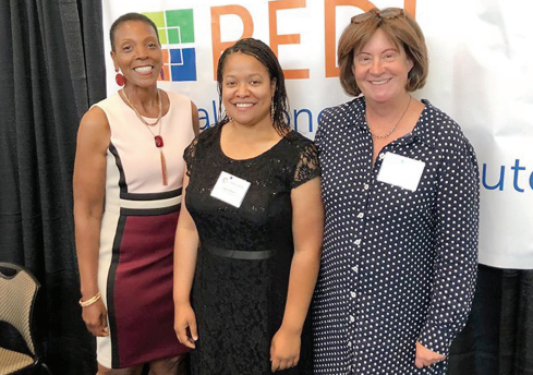 Devoria Berry, Latoya Beatty and Susan Rockel, left to right, were selected for and successfully completed the 2019 N.C. Rural Center's Rural Economic Development Institute (REDI).