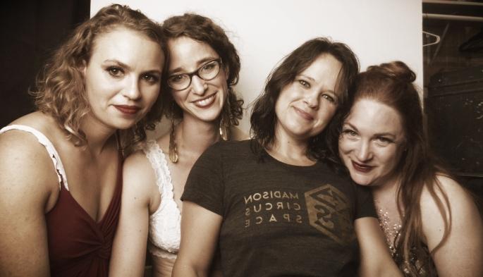 Stephanie, Karen, Isis, and Mackenzie