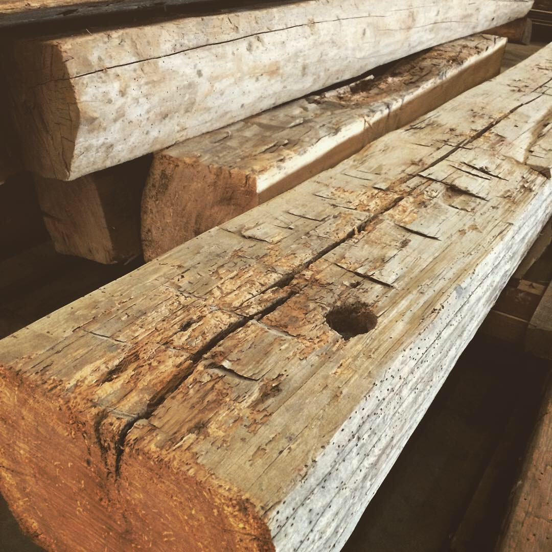 Authentic Reclaimed Hand Hewn Beams
