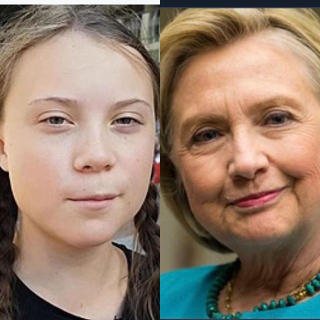 I KNEW IT ! #sameperson #gretathunberg #hillaryclinton #buttheemails #climatechange