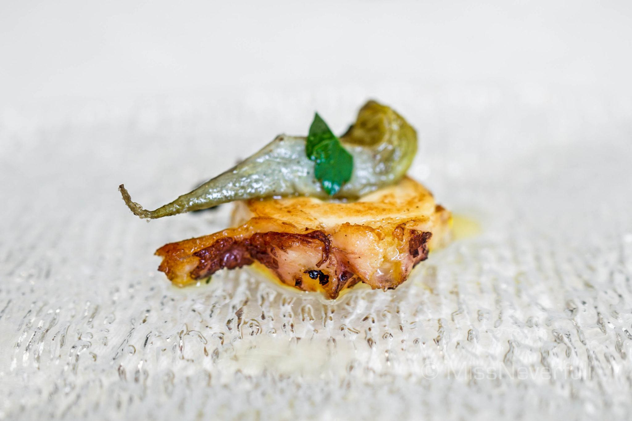 Roasted octopus and roasted artichoke