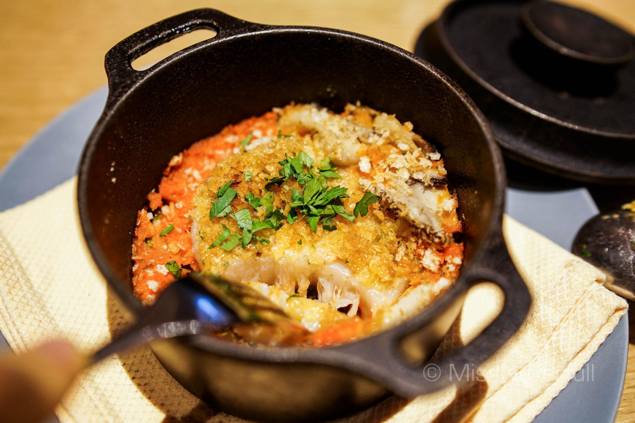 Scallop from Salfutu, Mushroom, Garlic Gratin