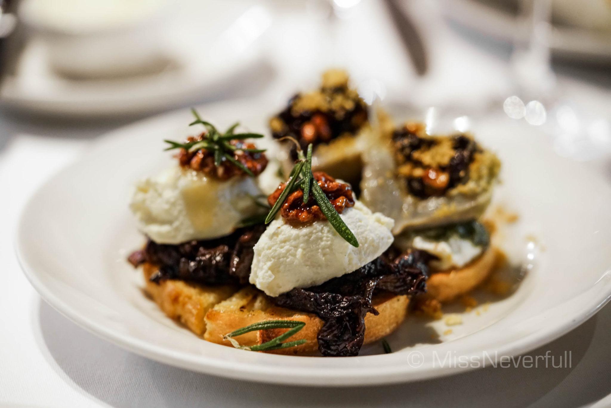 Ricotta and burrata cheese