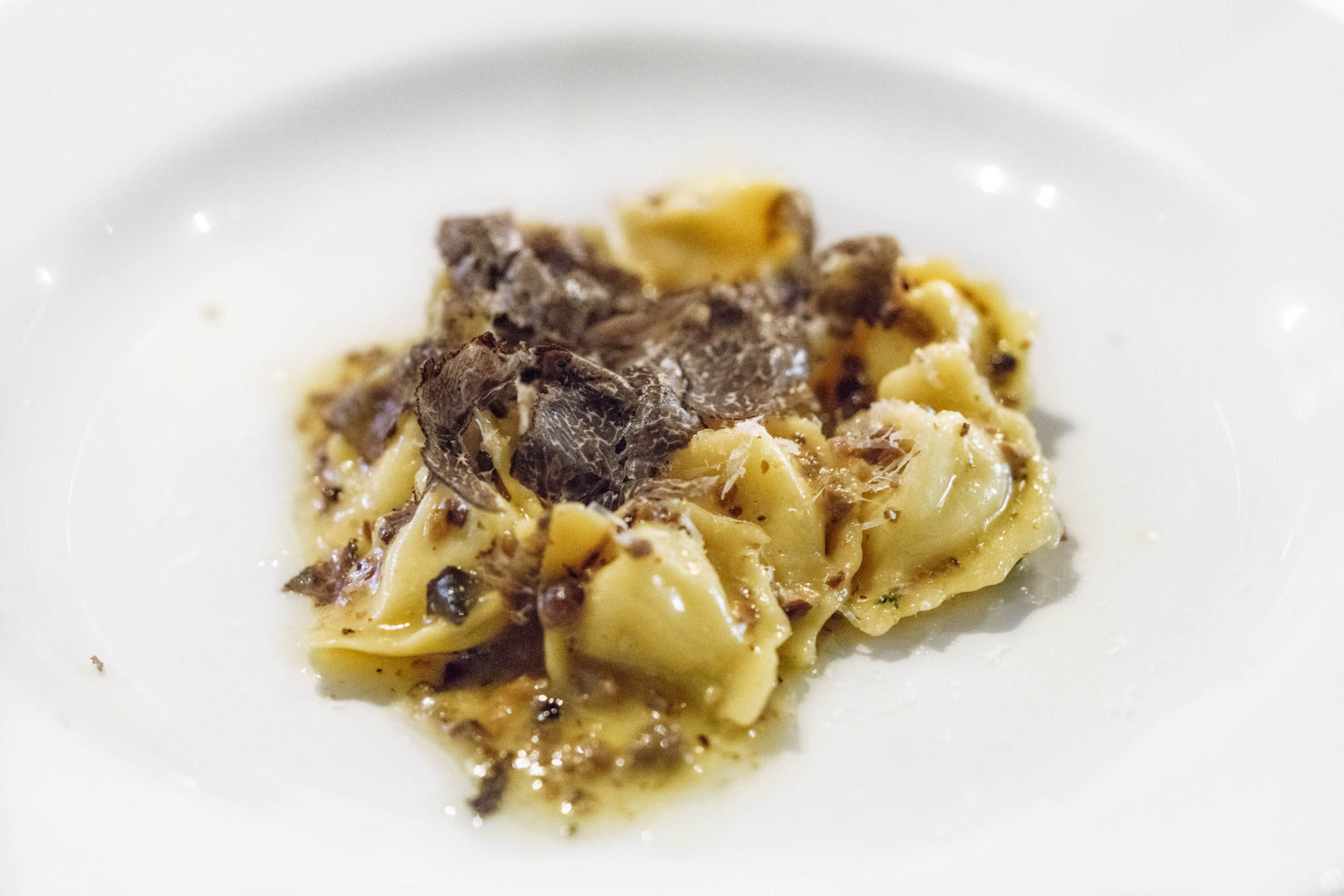 Celery Root Cappellacci with Blue Foot mushrooms ($32)