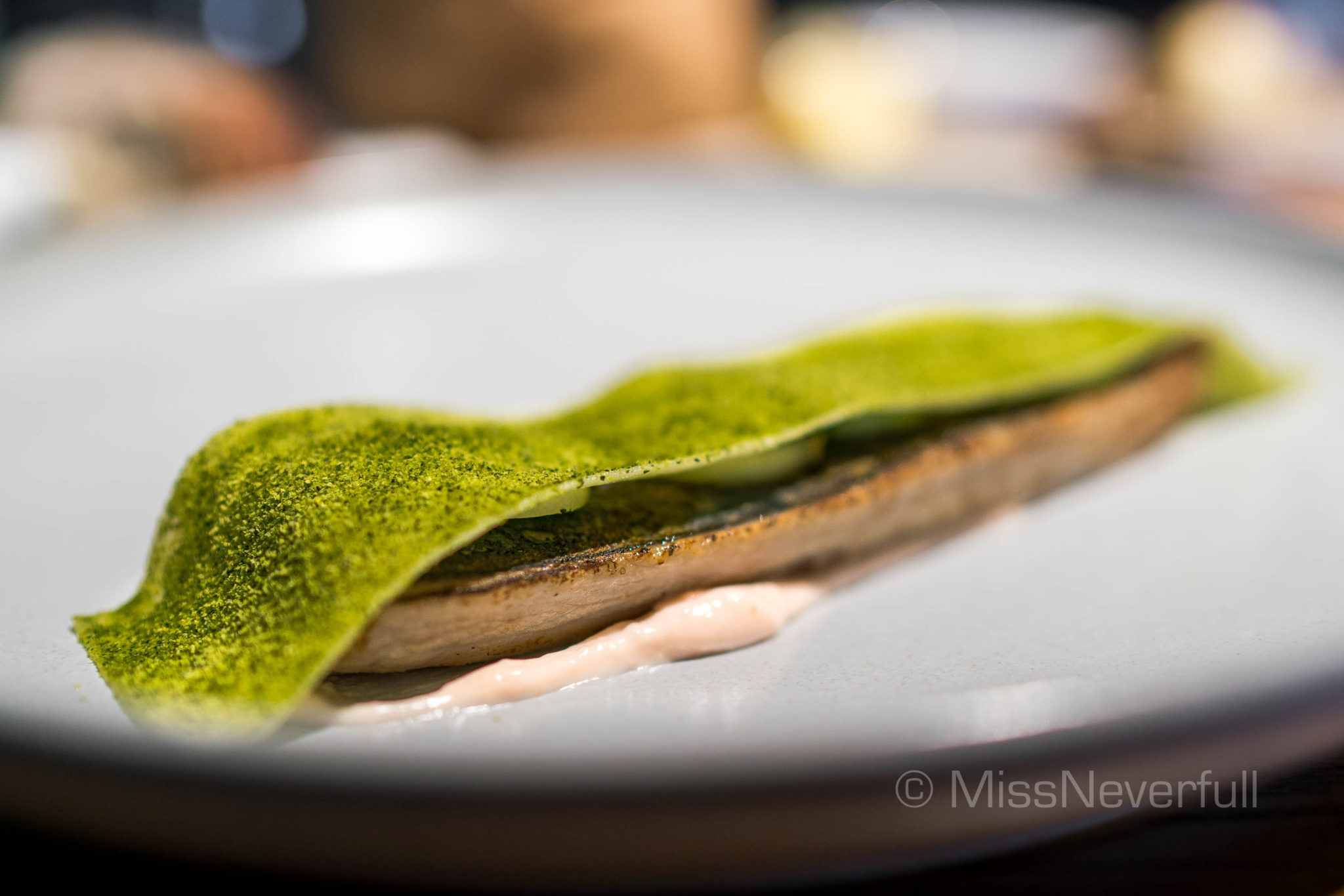 Flame Grilled Mackerel, Whipped Cod Roe, Potato & Cucumber