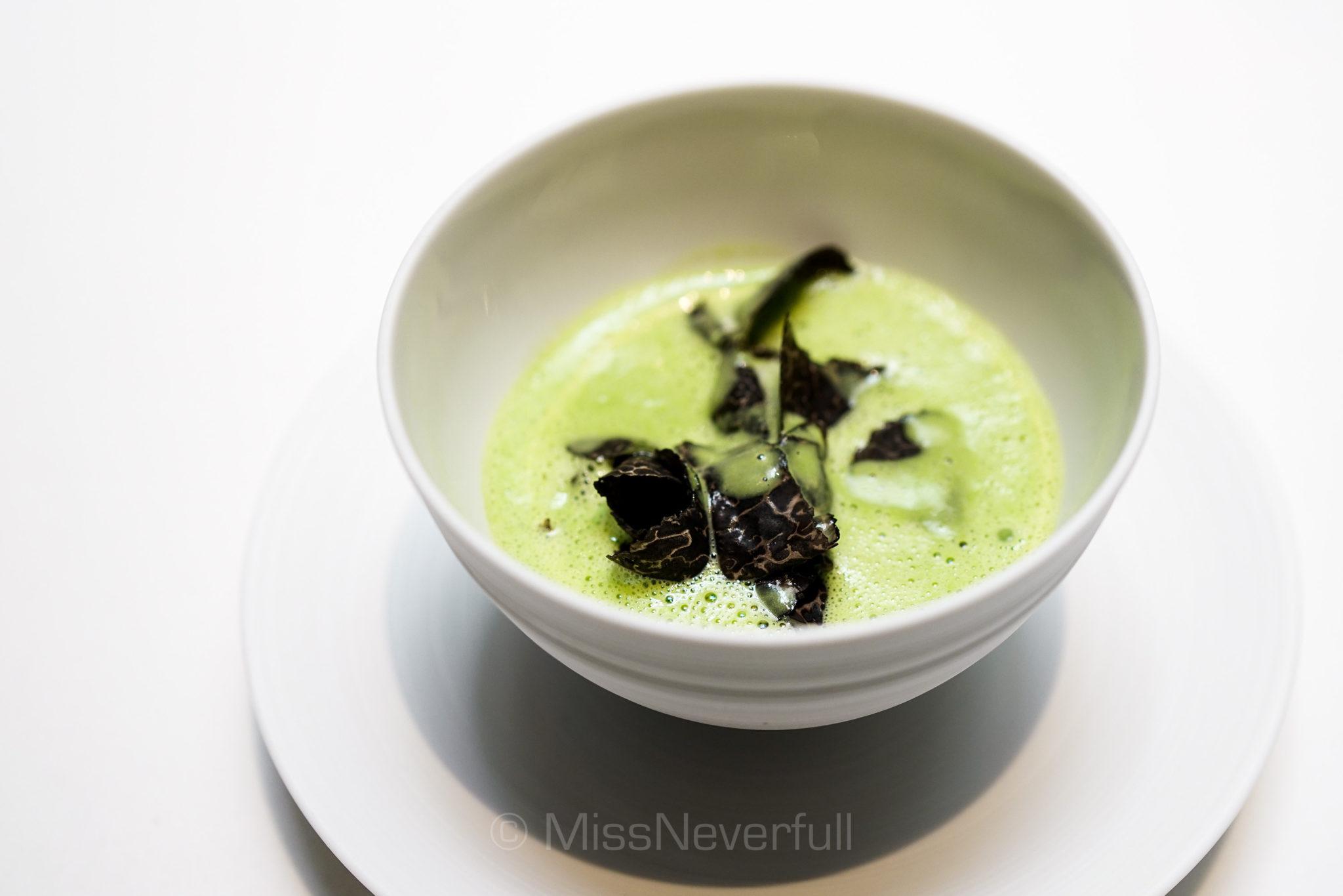 Asparagus 'Veloute', Black Winter Truffles