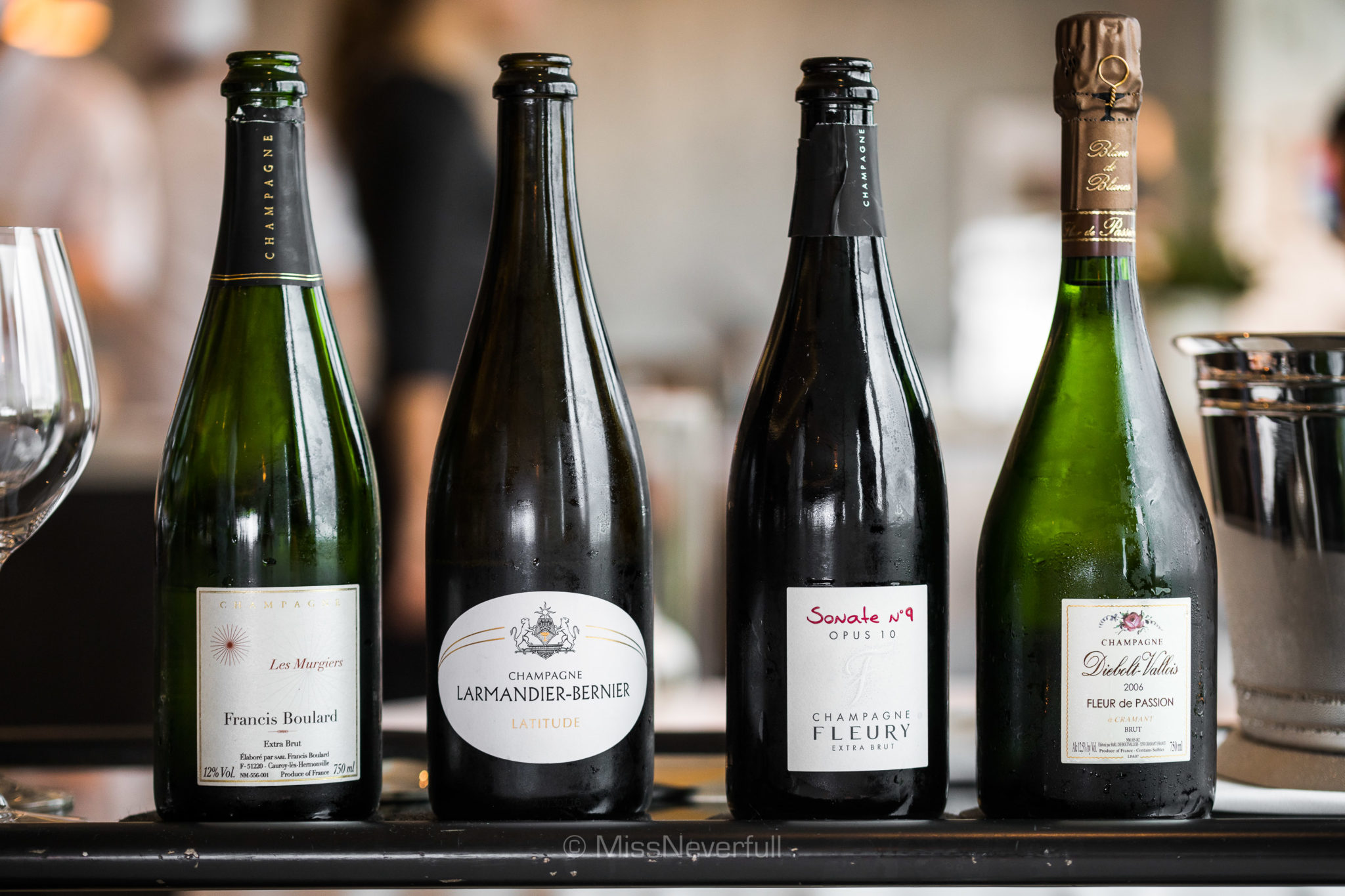 Selections of champagne