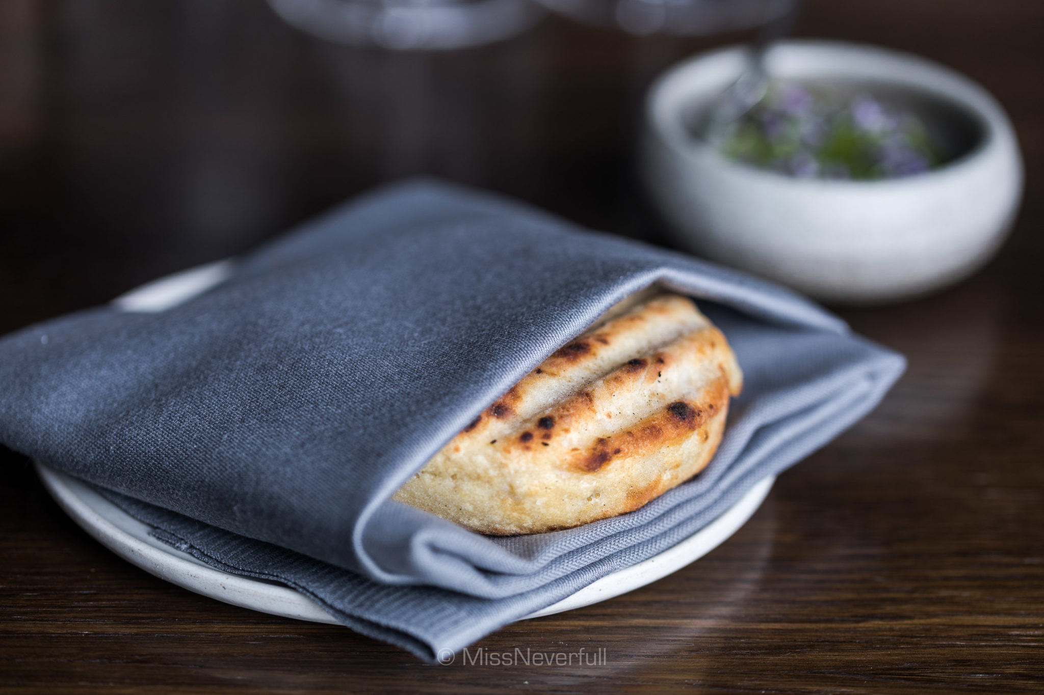 Grilled potato bread