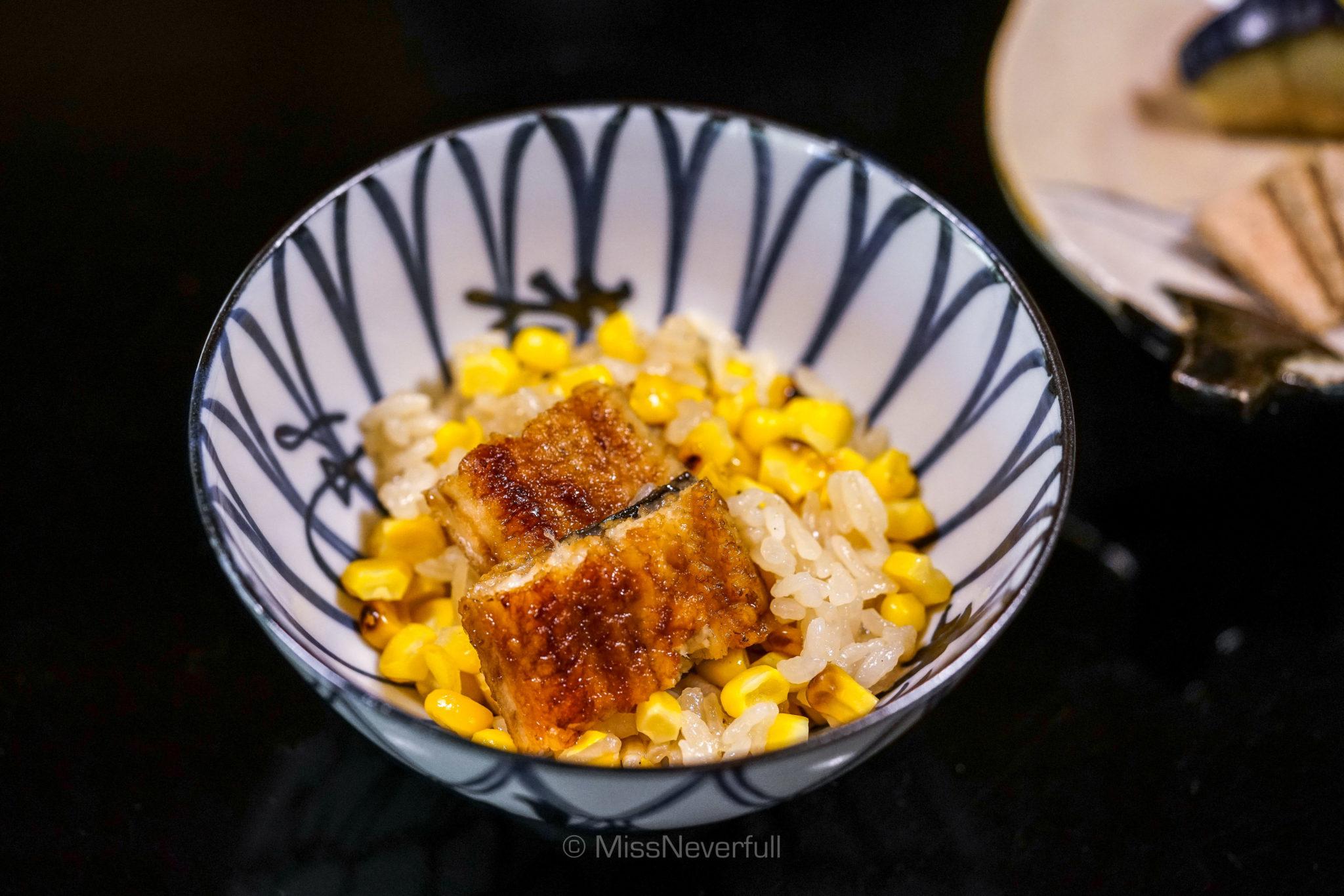 Corn rice with unagi