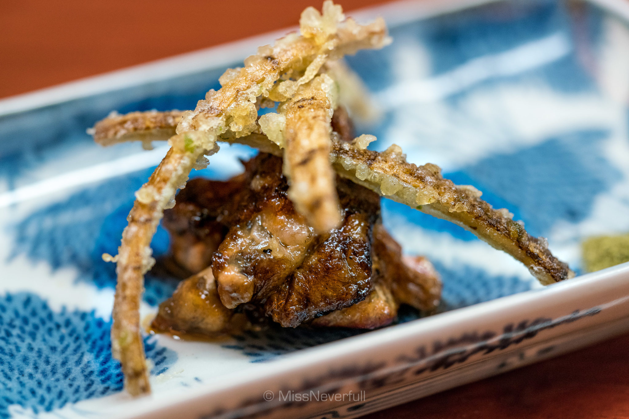 9. Grilled turtle and deep-fried gobo | すっぼんの焼物