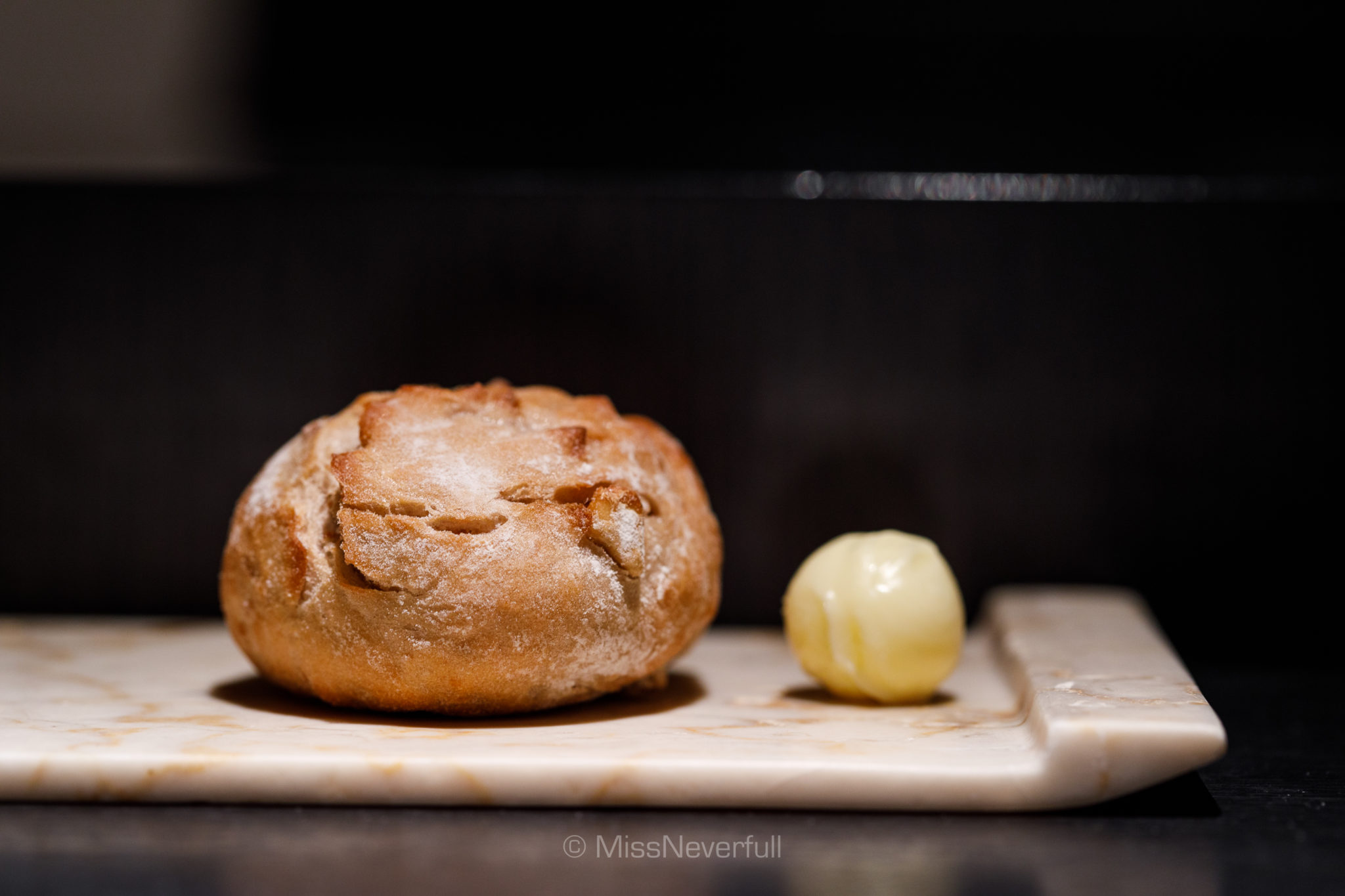 Homemade bread with butter