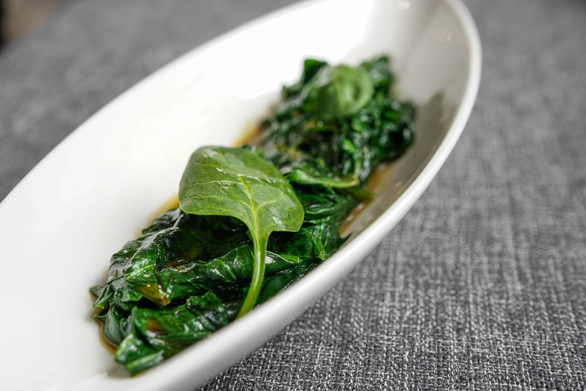 Spinach garlic Asiate, sesame oil and soy 蒜香亚洲风味菠菜(RMB 70)