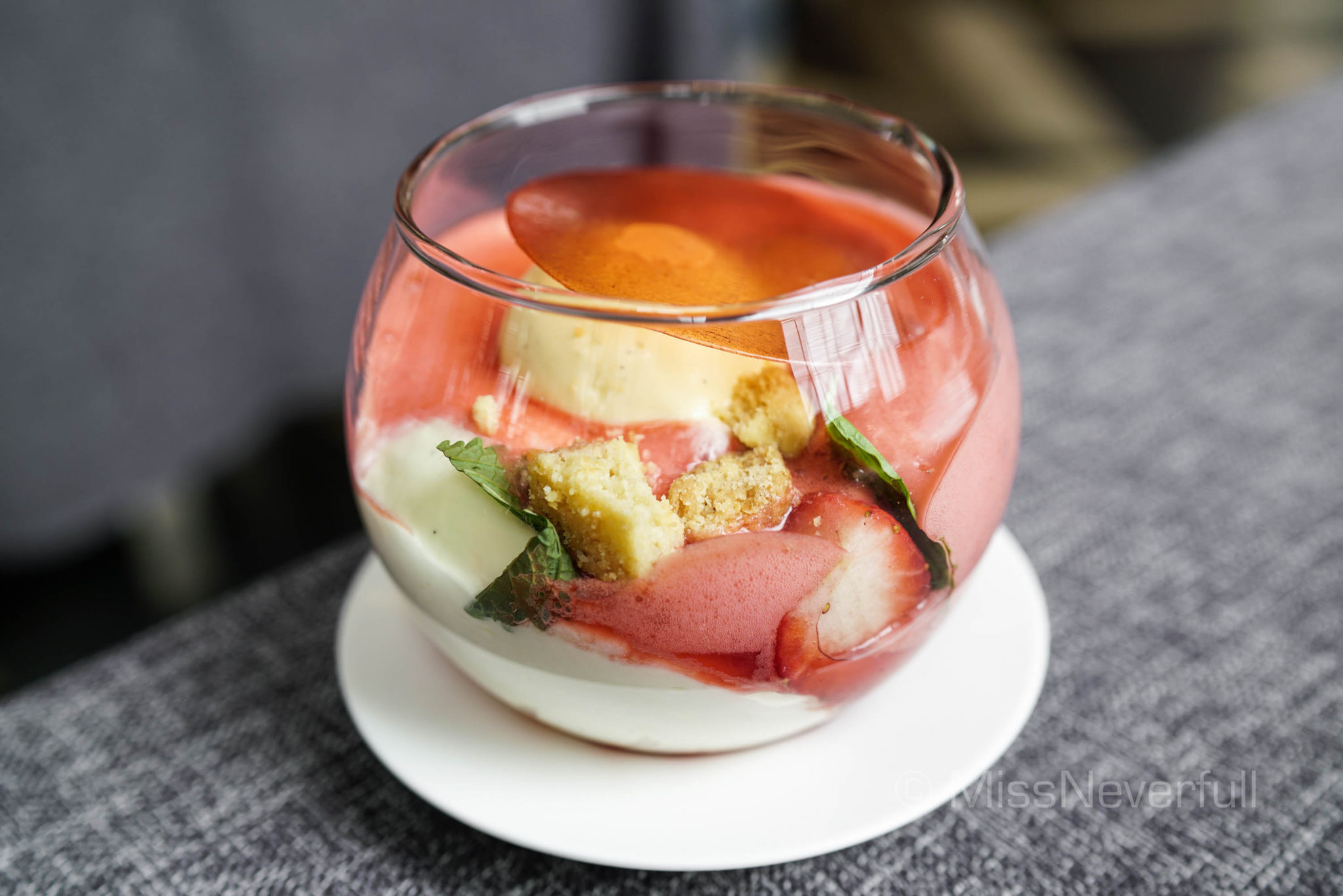 Strawberry & vanilla triffle 千层草莓雪糕(RMB 80) [seasonal]