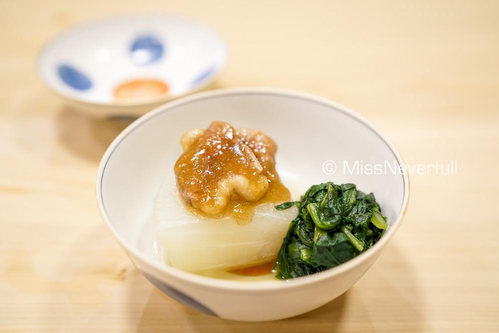 煮物: 聖護院大根 鴨 | Simmered duck, radish