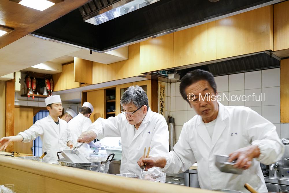 Chef Nishi-san and the team