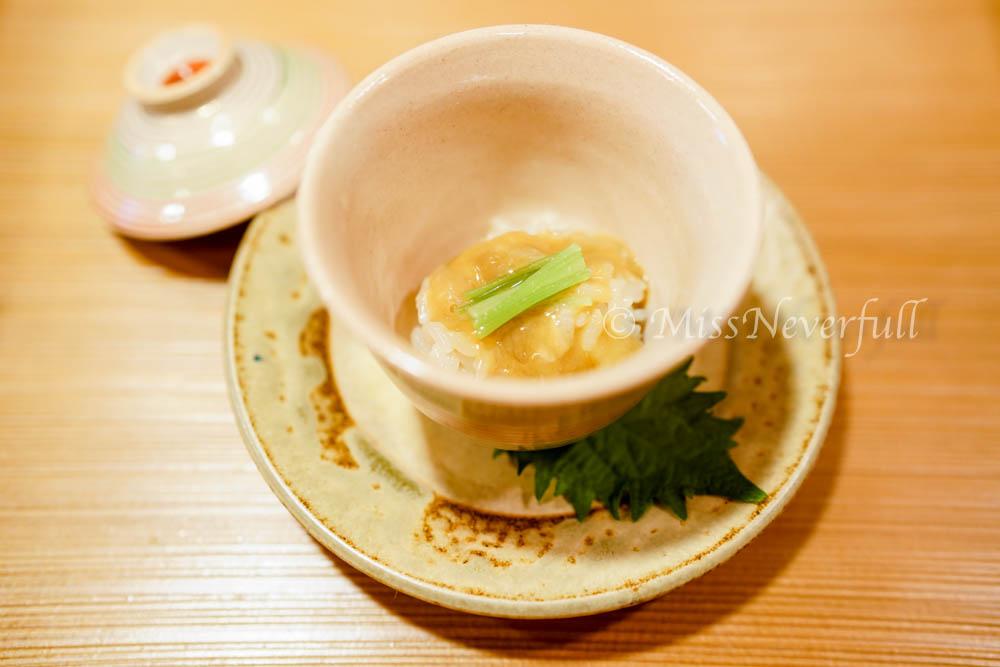 1. Sea cucumber ovaries, steamed rice 'iimushi'
