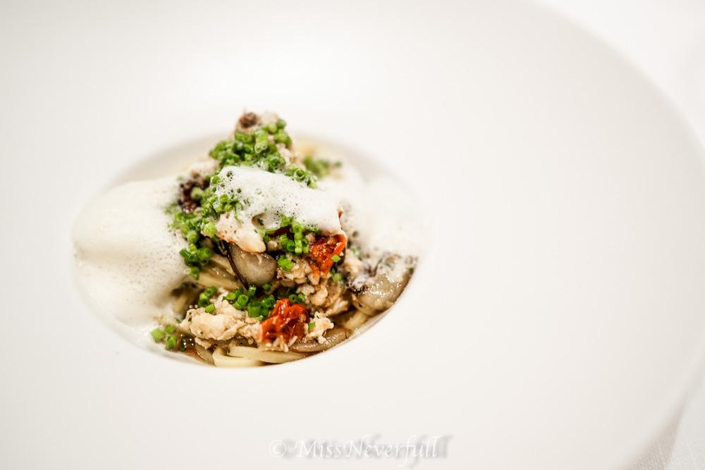 Hairy crab & Radicchio Tagliolini