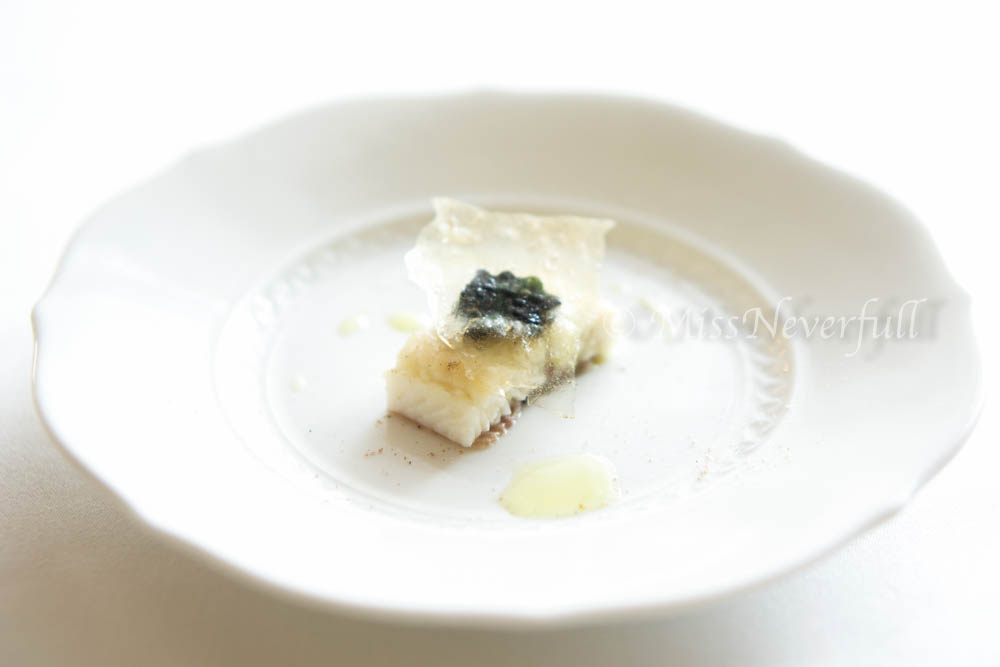 Steamed anago with Caviar