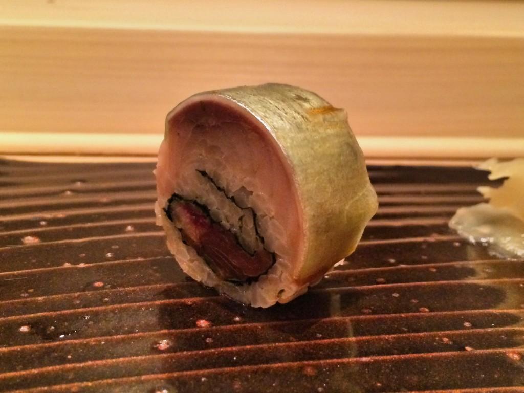 6. Saba bo-zushi with kombujime