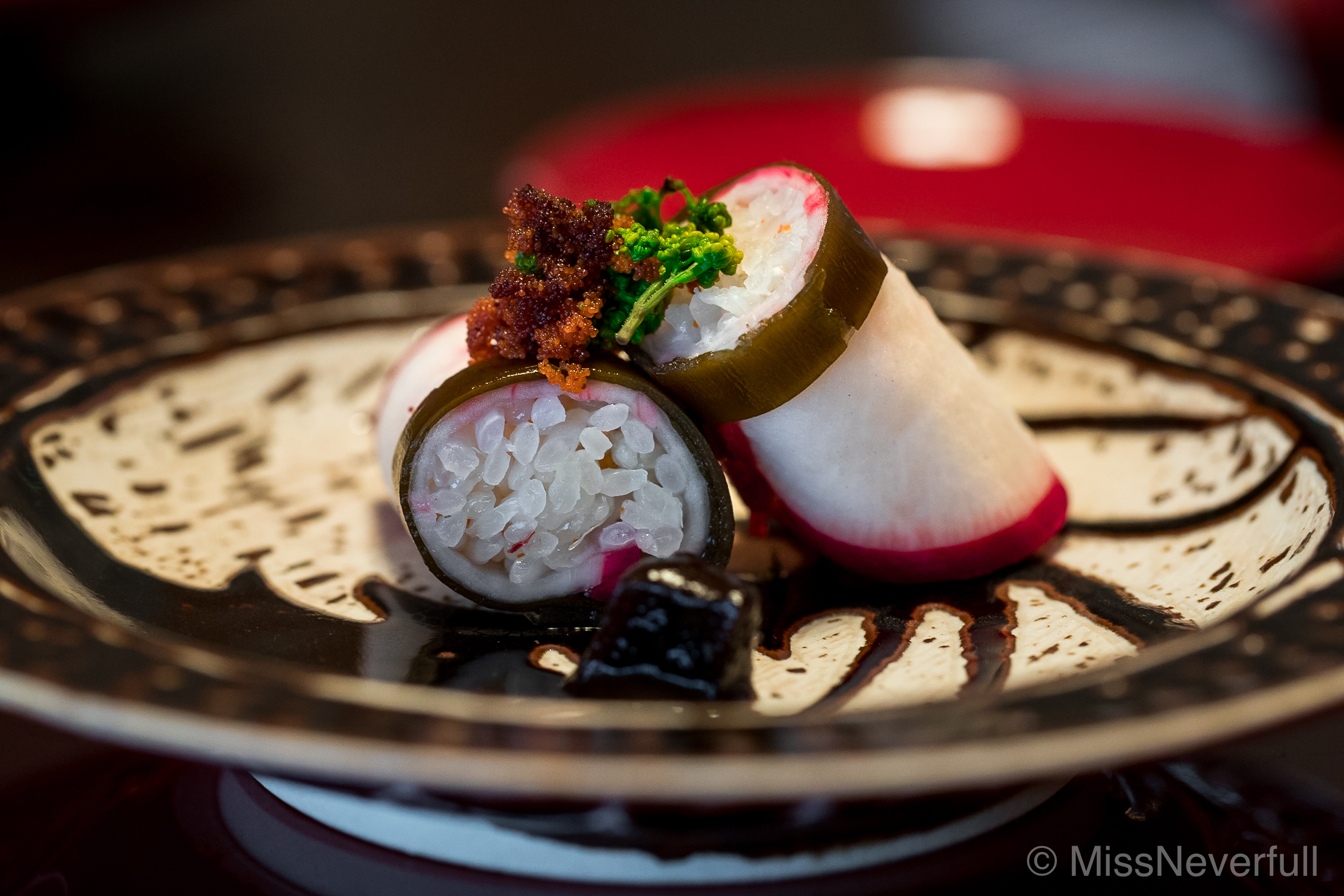 5. Pickled turnip rolled with rice