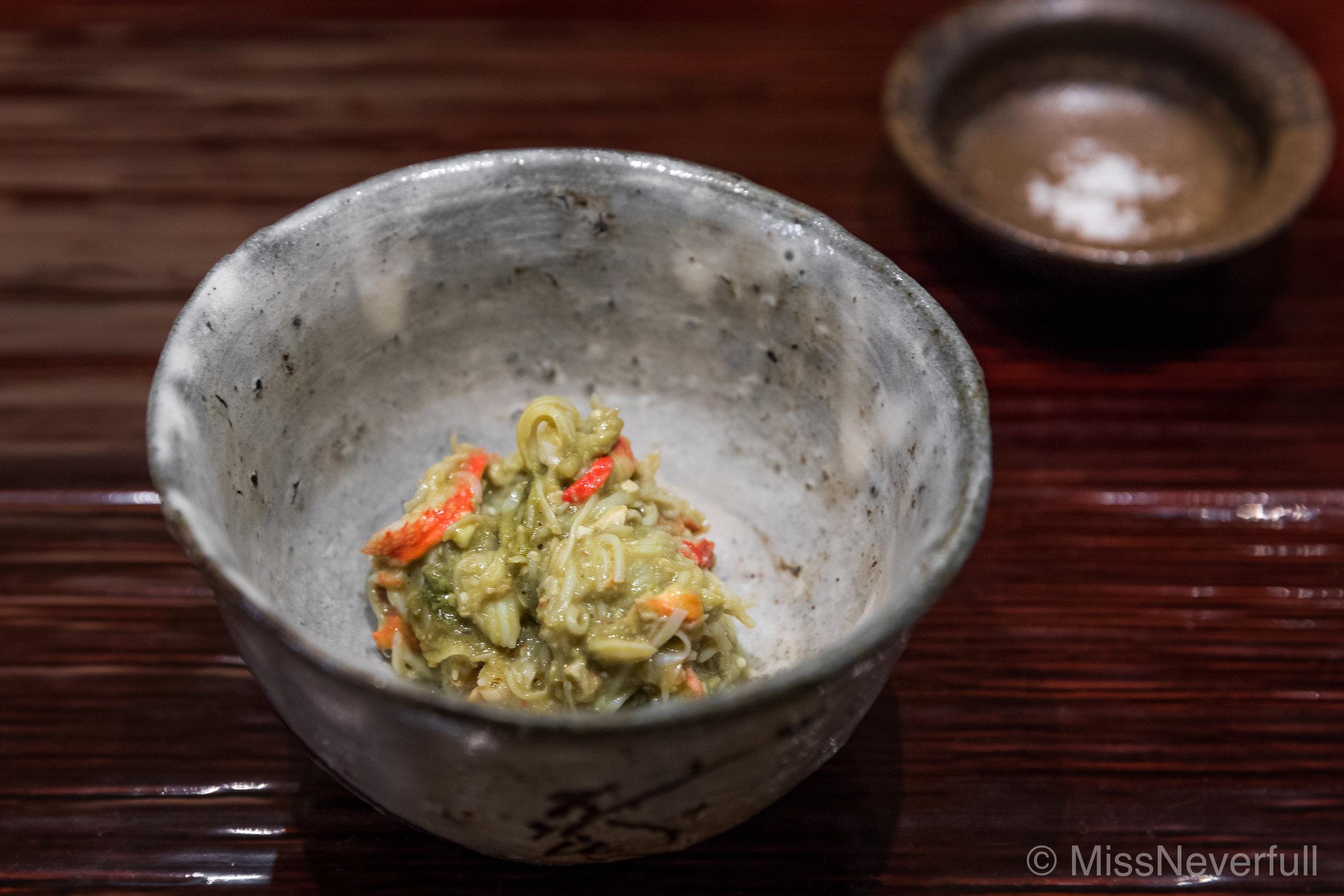 5.Grilled Echizen-gani miso