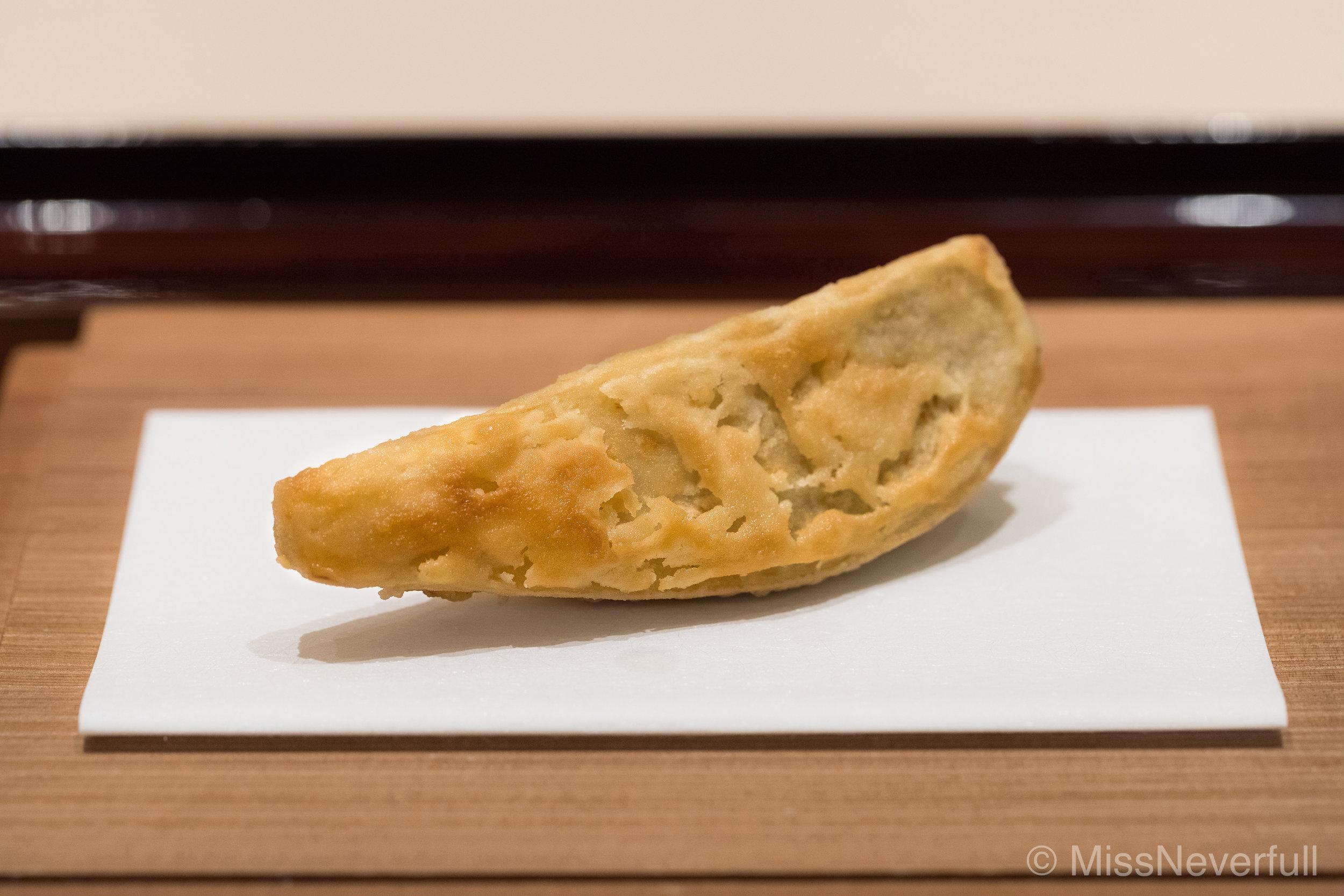 10.Deep-fried ebi-imo (揚げ海老芋)