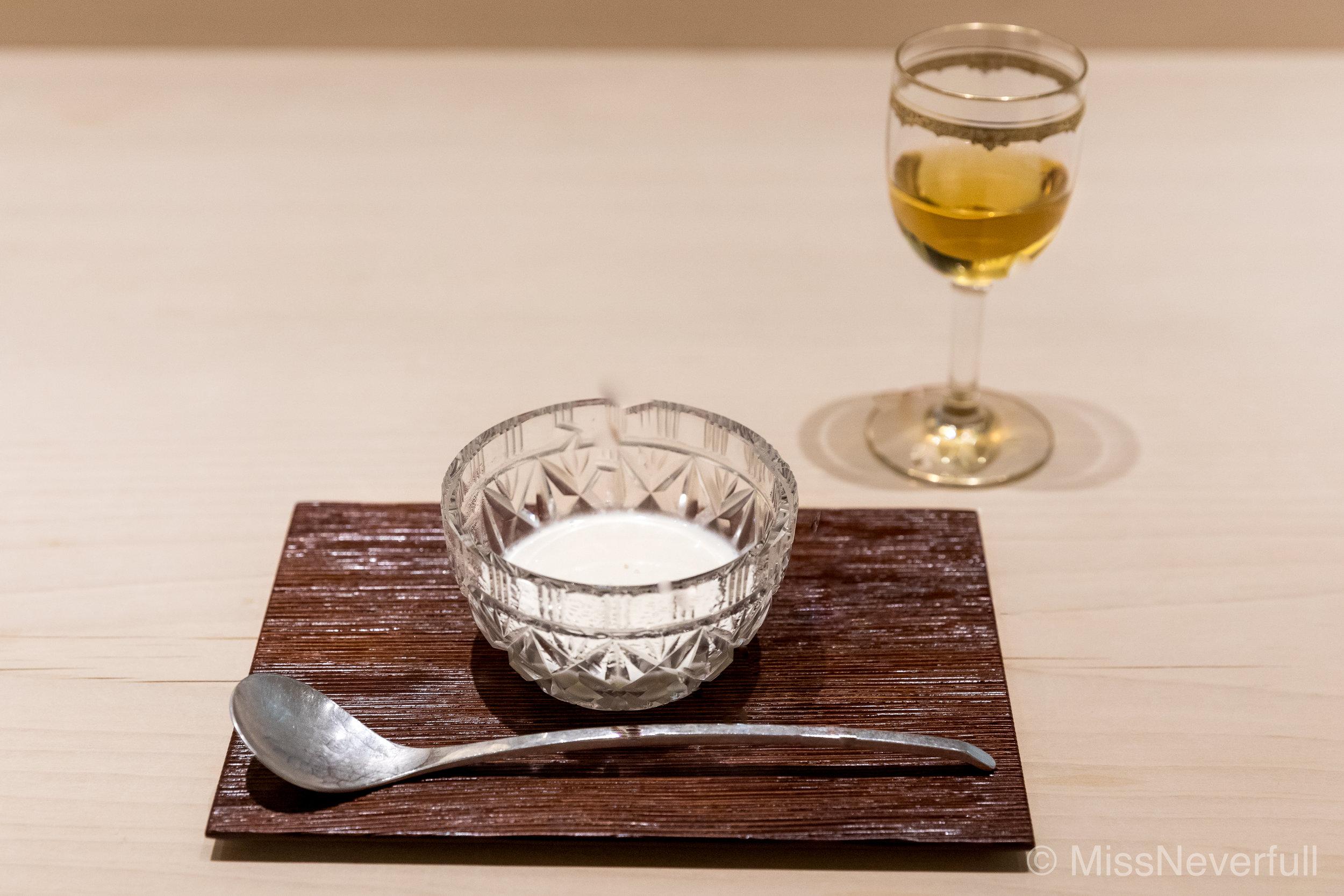 15.Vanilla blanc mange, salt, pair with chateau d'yquem 1999