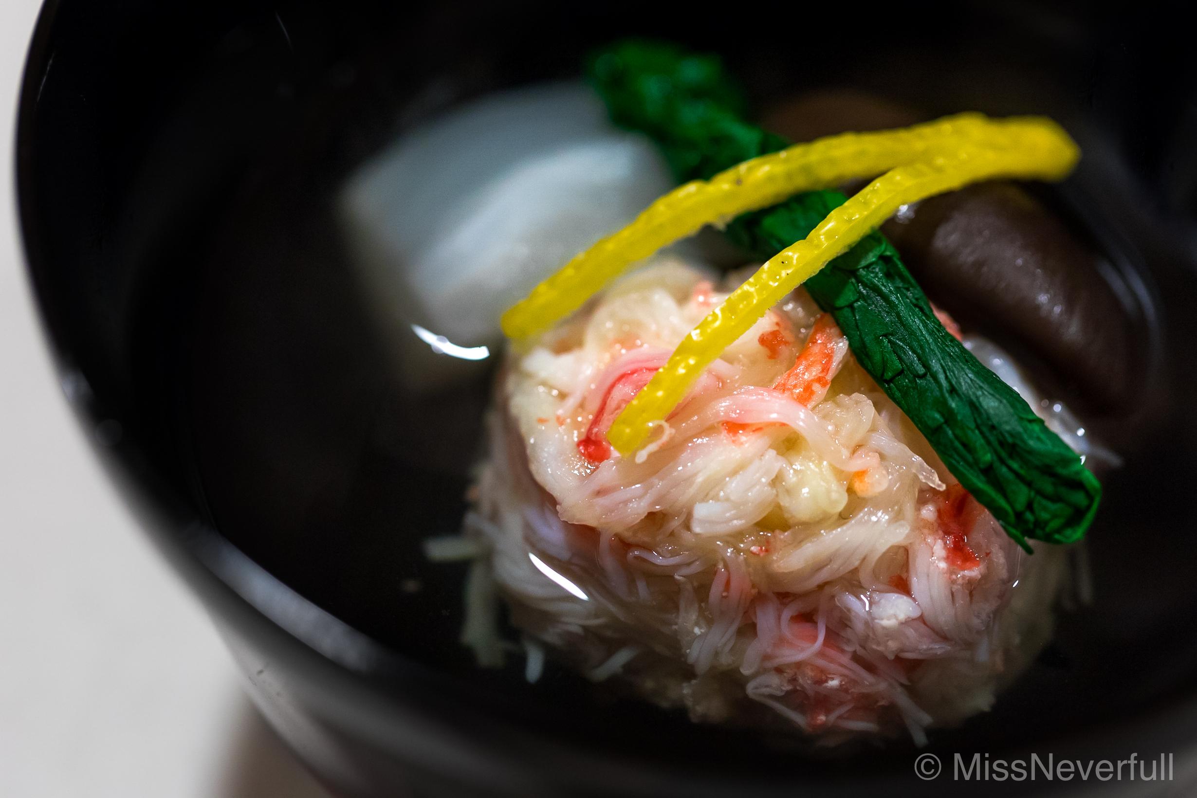 4. Owan: Matsuba-gani and Hotate-gai soup