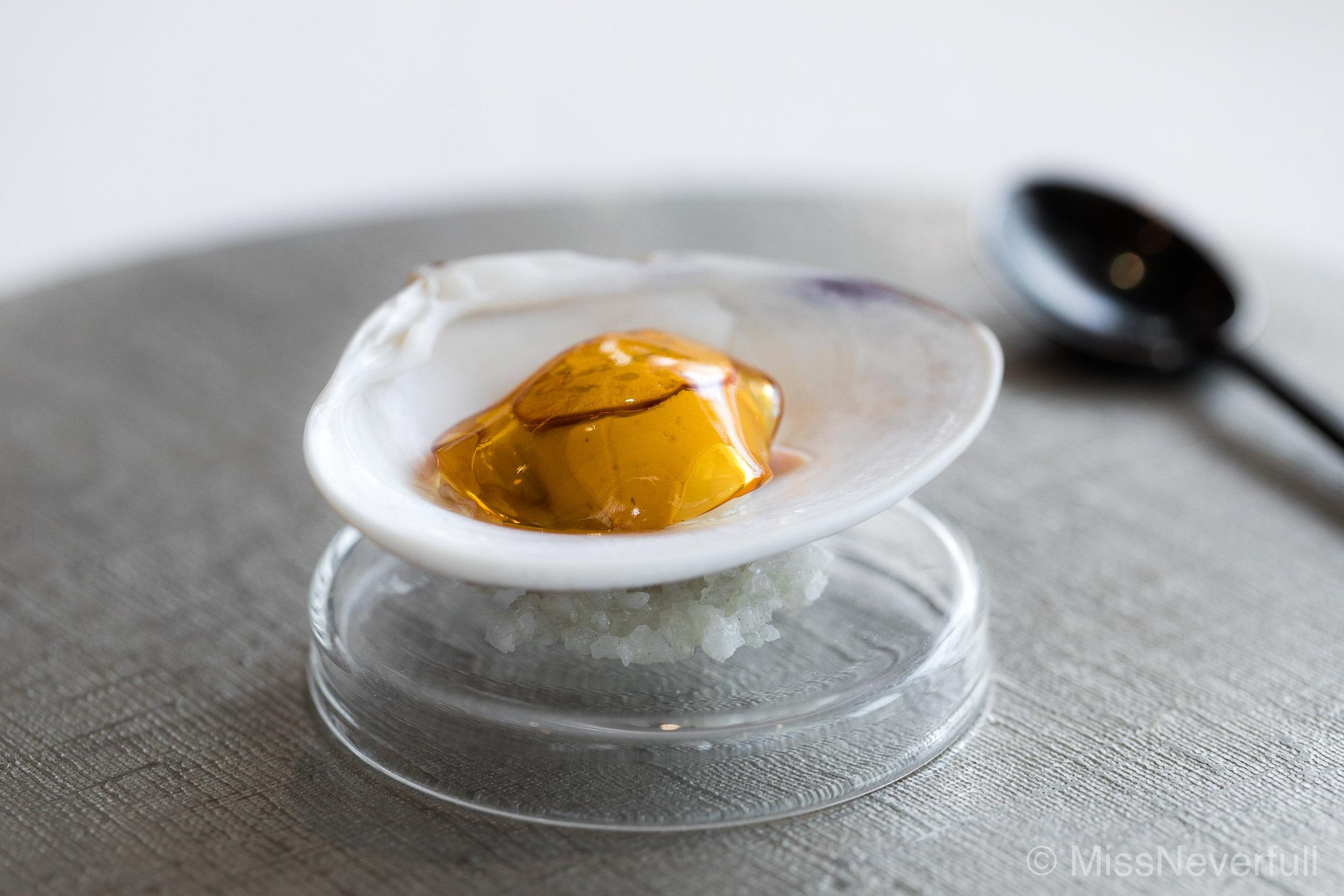 1. Hamaguri, Mushroom, Apple jelly