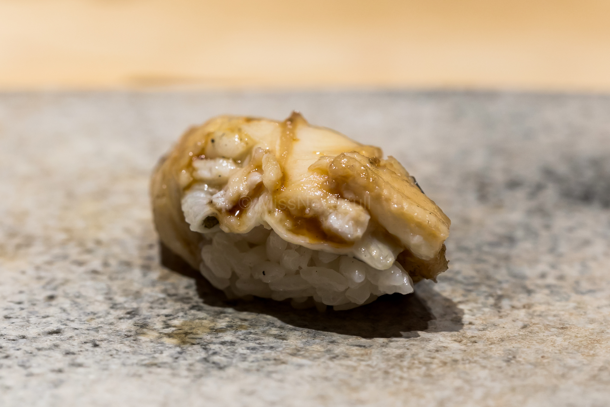 12. Anago from Kyushu -  very light tsume to match the fragrant, creamy natural eel