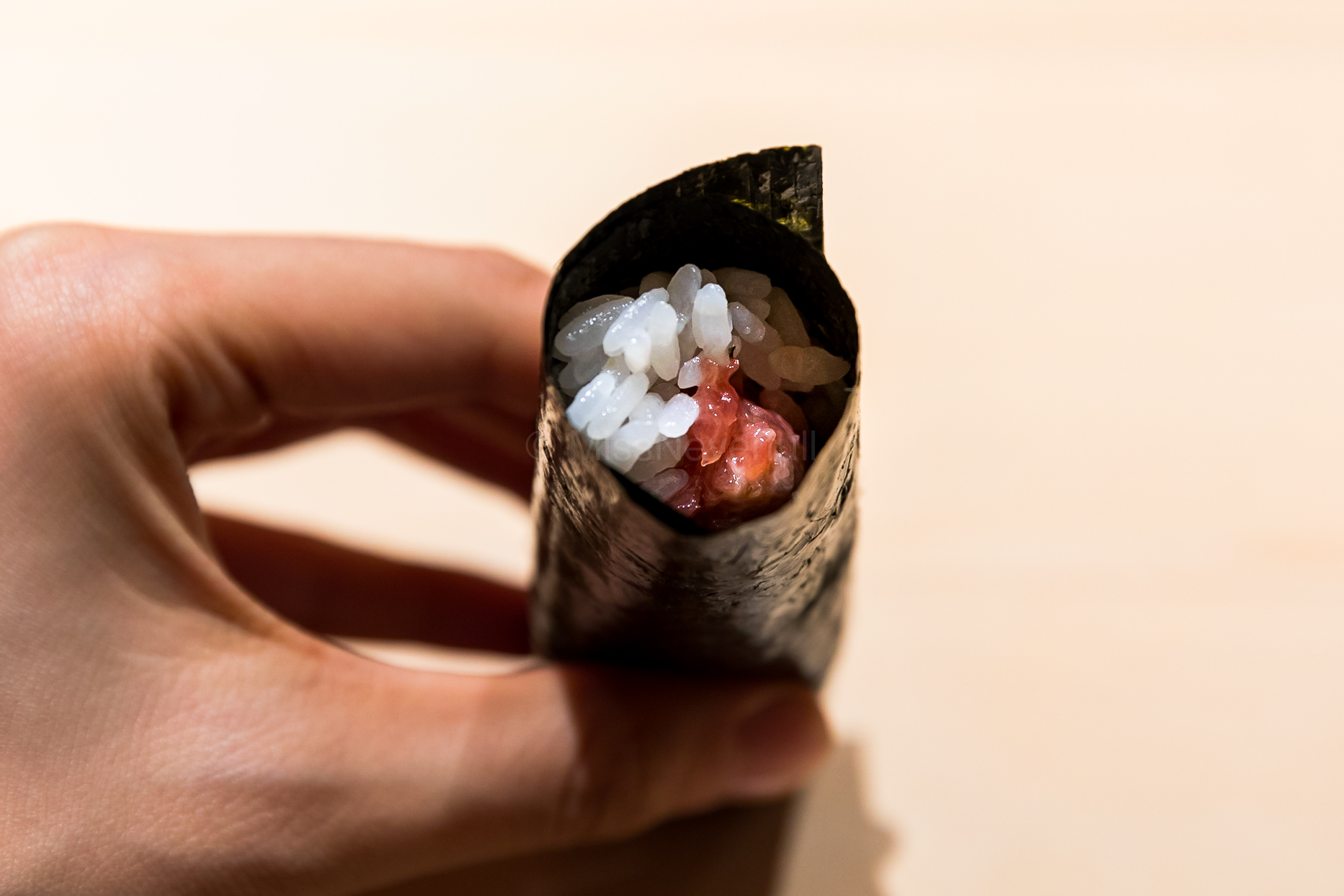 Not yet satisfying...so an additional toro temaki (handroll)
