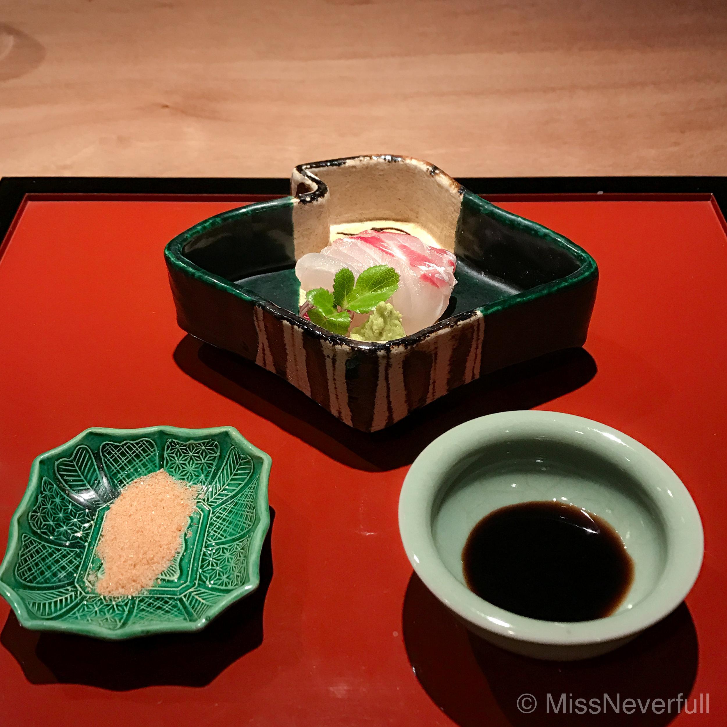 6. Tai (sea bream) sashimi