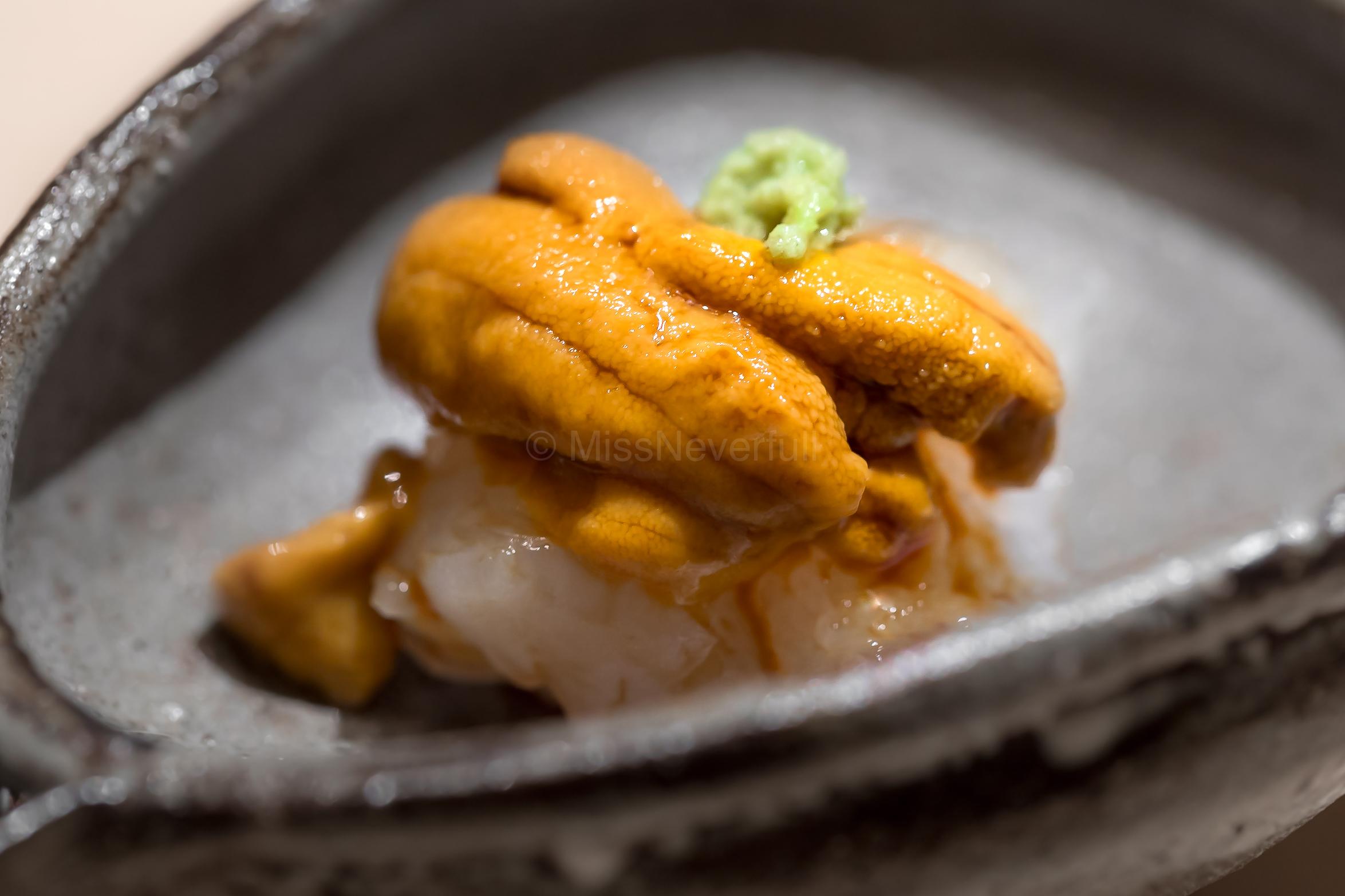Uni (sea urchin) & botan ebi (shrimp)
