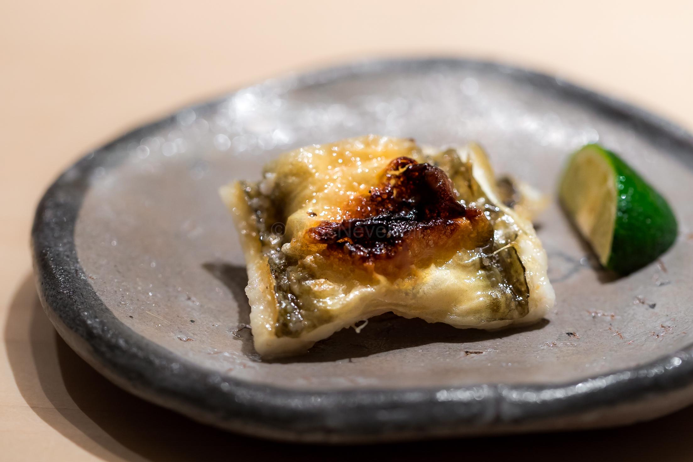 Anago shiroyaki (grilled sea eel)