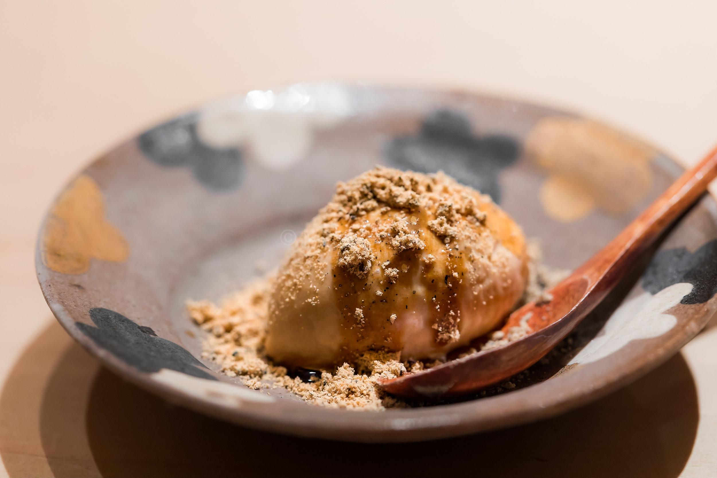 Hojicha ice-cream with Kinako